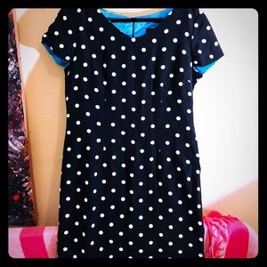 👠NEW ITEM👠EUC VTG Black w/ white polka dot dress